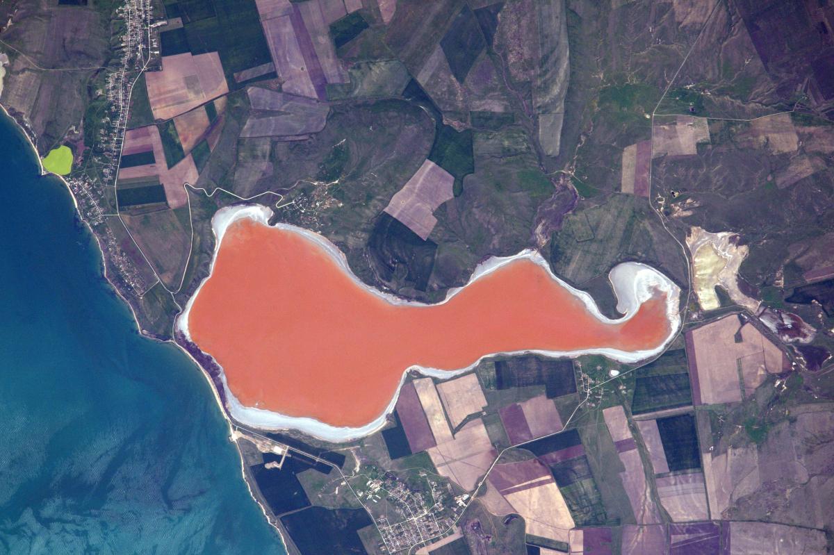 La Terre dans l'œil de Thomas Pesquet, saison 2 : le lac Tobechytske en Crimée