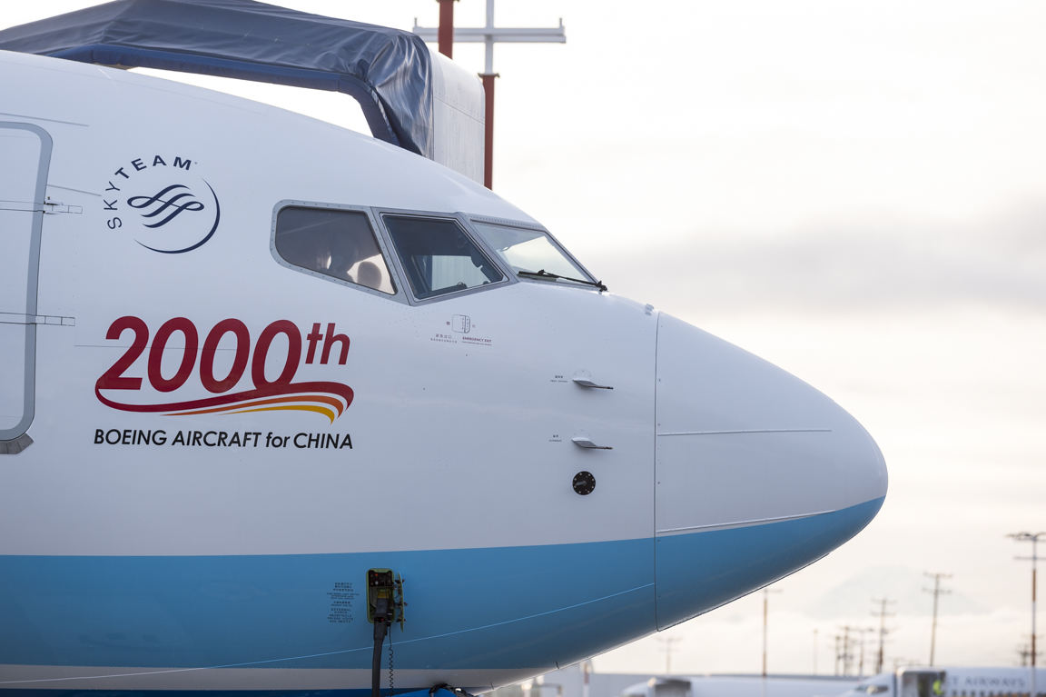 Boeing delivers 2,000th aircraft to China