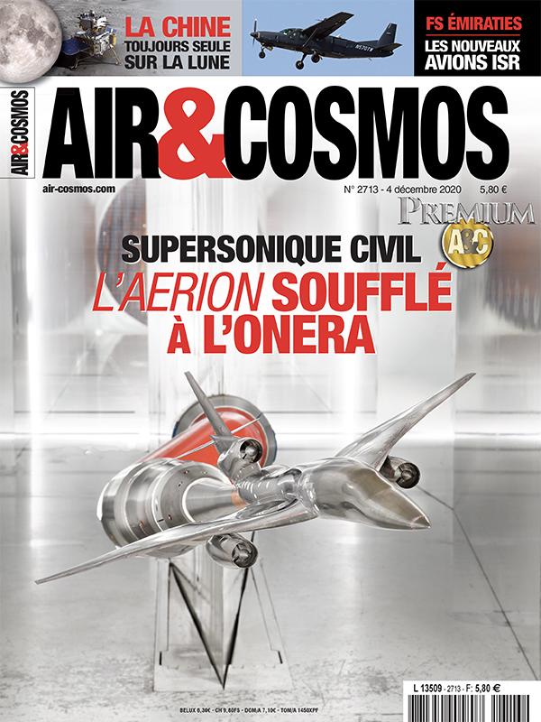 Air&Cosmos Premium n°2713 numérique du 4 décembre 2020 – jet supersonique Aerion en soufflerie à l'Onera