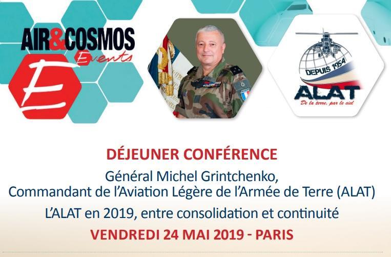 Déjeuner-Conférence le 24 mai avec le Général Michel GRINTCHENKO, Commandant de l'ALAT