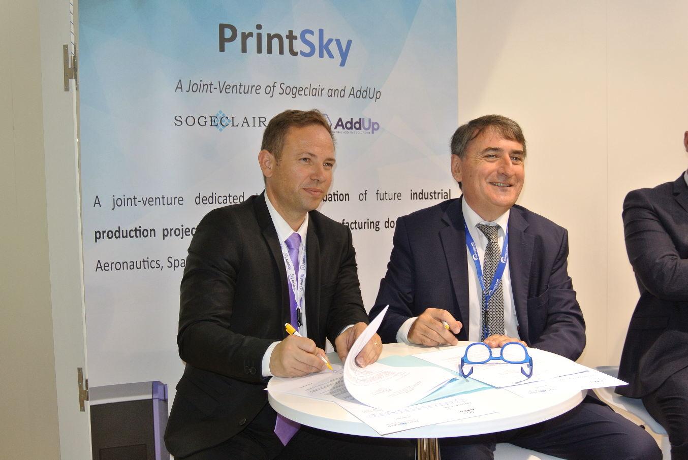 Bourget 2017 : Sogeclair et AddUp créent PrintSky sur la fabrication additive