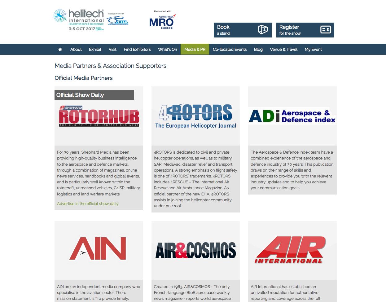 Air et Cosmos est partenaire media d'Helitech à Londres, présent avec Air et Cosmos International.