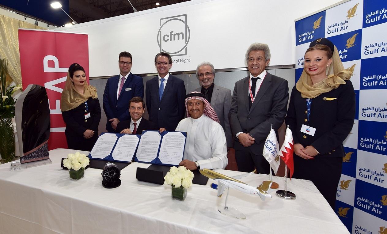 Dubai Airshow 2017 : Gulf Air prend le CFM Leap-1A pour ses A320neo