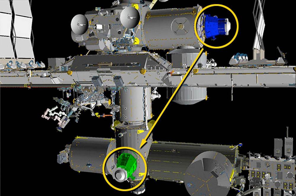 Déplacement du port PMA 3 de l'ISS