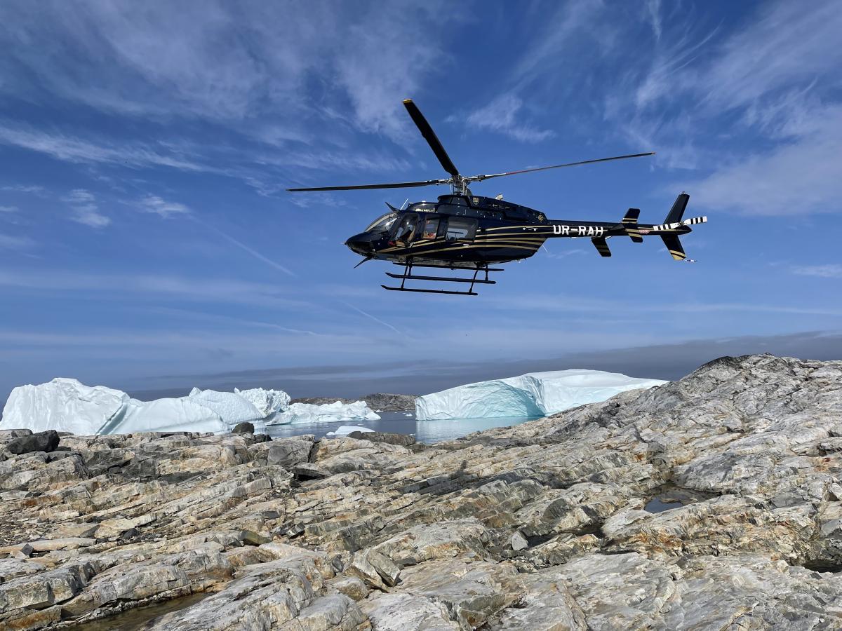 Un Bell 407GXi livré via un (long) vol transatlantique