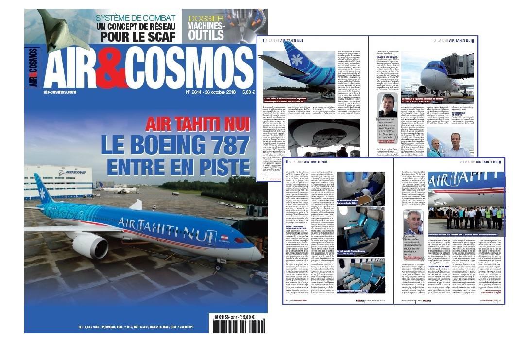 Boeing 787-9 d'Air Tahiti Nui, Airbus D&S et le SCAF, machines-outils pour l'aéro, Wingcopter, cette semaine dans Air et Cosmos