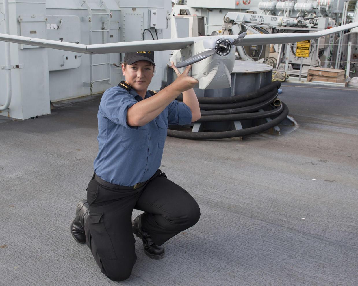 Le drone Puma renforce les moyens de la marine canadienne