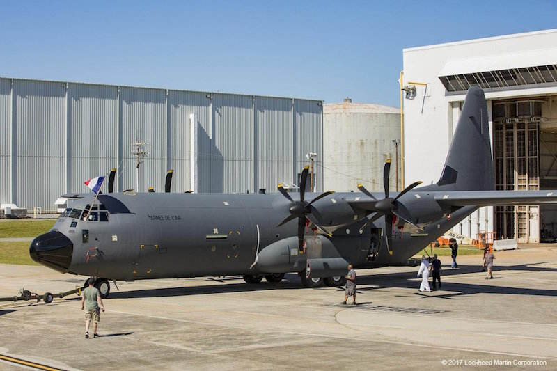 First French C-130J-30 rolls out