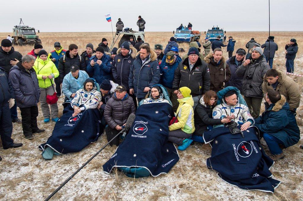 Retour sur Terre des marathoniens de l'ISS