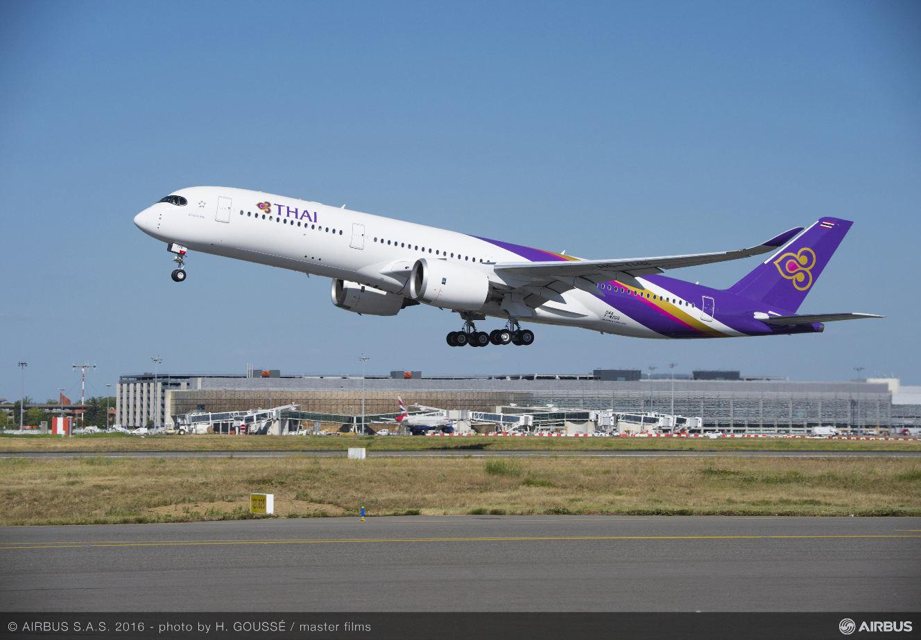 Thai Airways réceptionne son premier Airbus A350 XWB