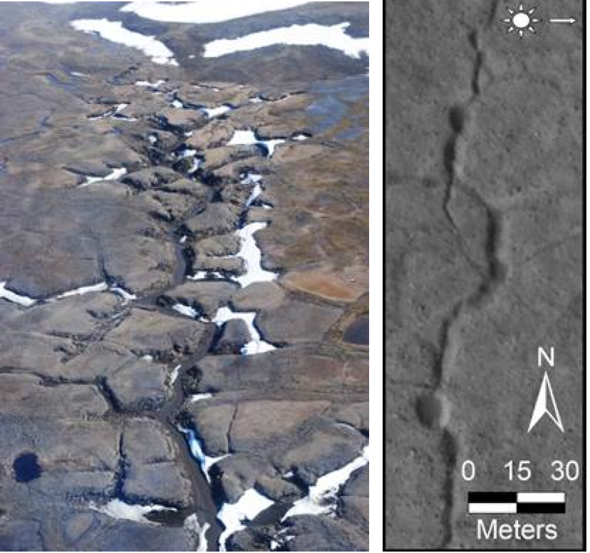 Des rivières souterraines récemment actives sur Mars