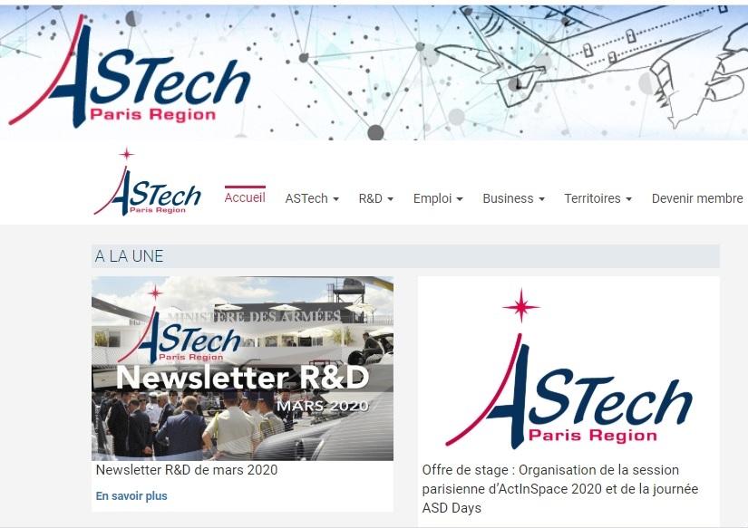 Offre de stage au Pôle ASTech : Organisation de la session parisienne d'ActInSpace 2020 et des ASD Days