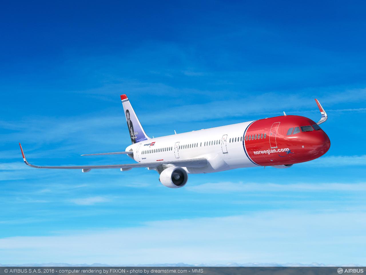 Farnborough 2016 : Norwegian prend 30 Airbus A321neo LR