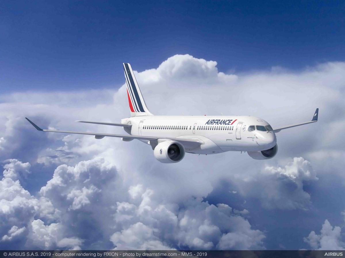 Air France-KLM confirme ses 60 Airbus A220