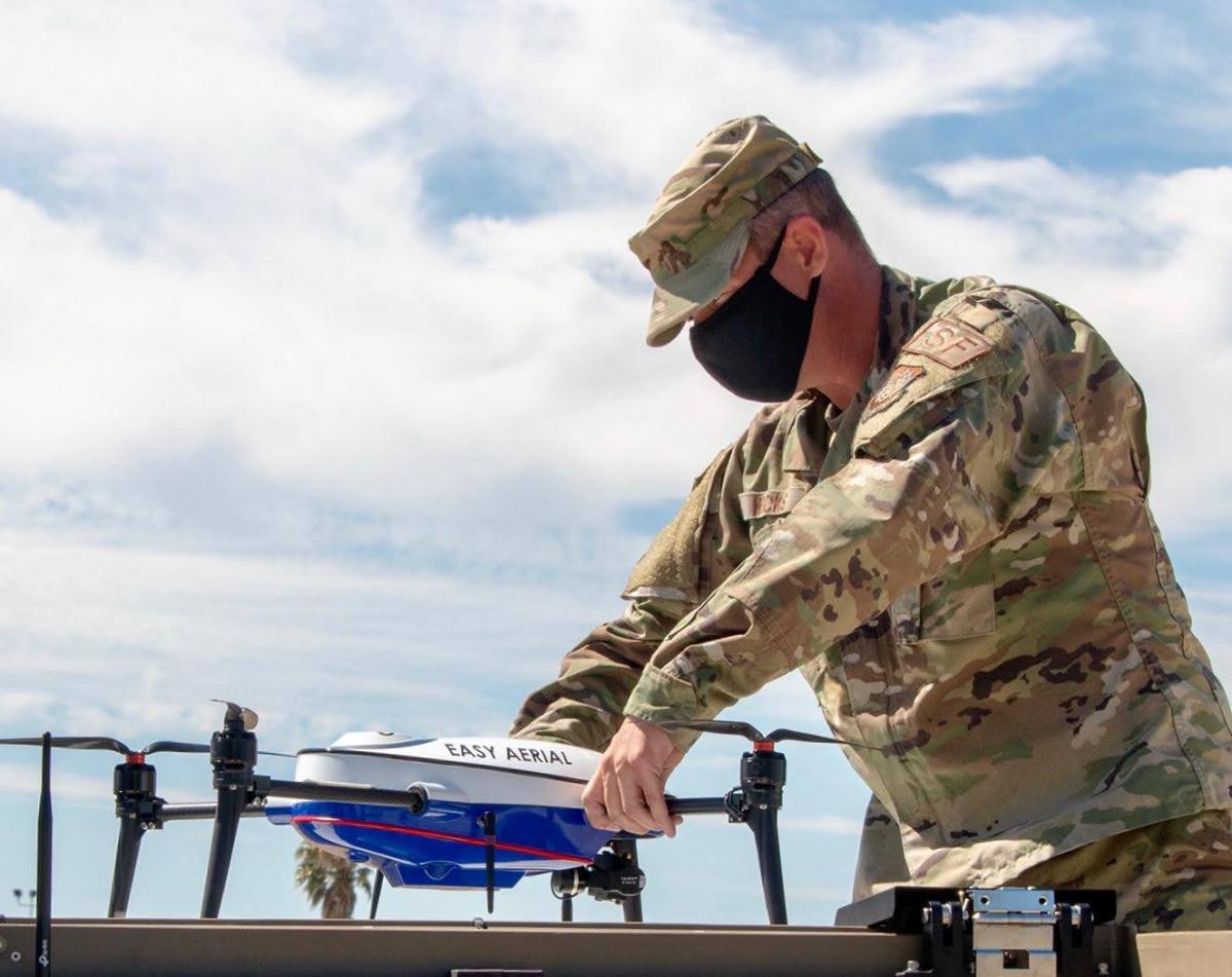 USAF: un drone vient compléter le dispositif d'une base aérienne
