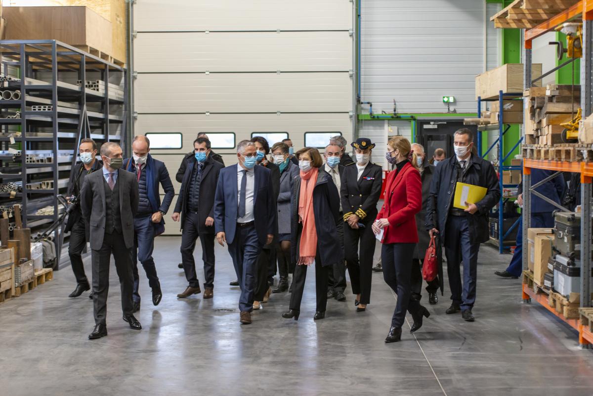 La ministre des Armées inaugure la nouvelle usine de Turgis & Gaillard