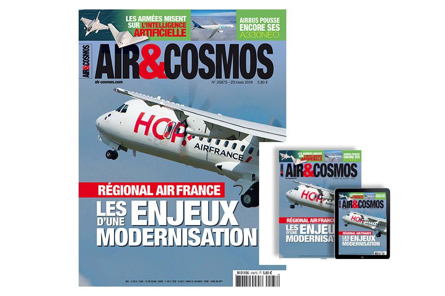 Avions régionaux, Air France-KLM, Embraer, ATR, A330neo, intelligence artificielle, Salon Satellite 2018, Eutelsat, cette semaine dans Air&Cosmos.