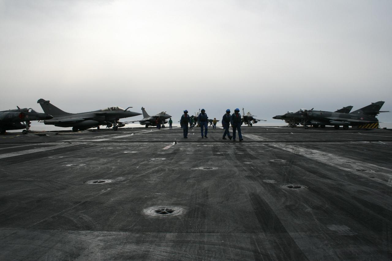 Opération Chammal: L'engagement du groupe aérien embarqué
