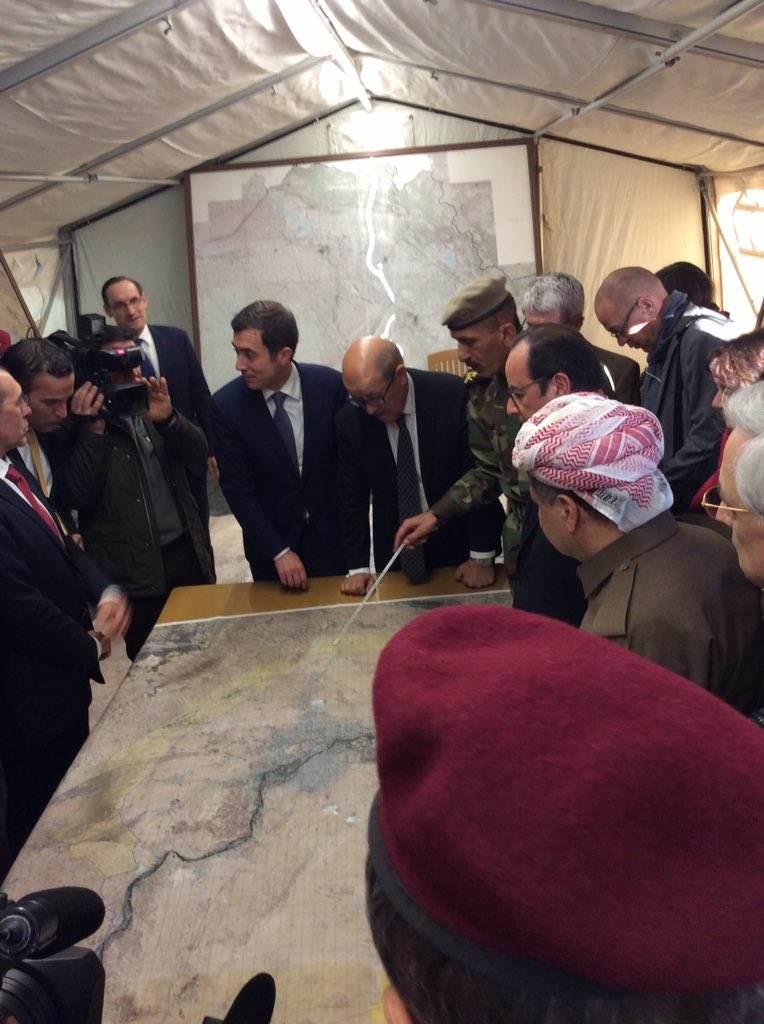 Le Président Hollande en visite en Irak
