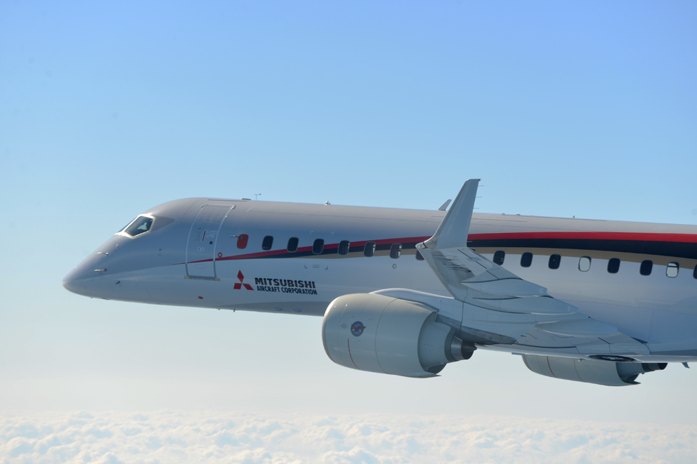 Le MRJ reprend ses essais en vol