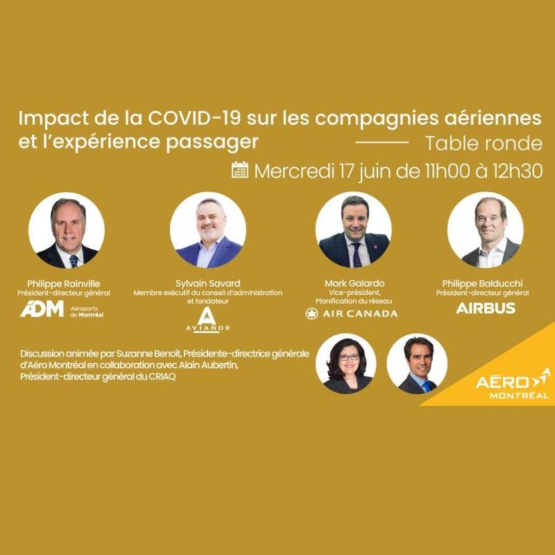 Table ronde sur l'impact de la COVID-19 sur les compagnies aériennes et l'expérience passager