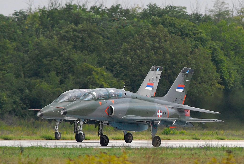 Crash d'un jet d'entrainement serbe