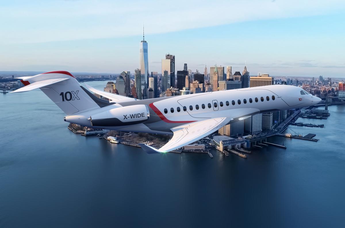 Dassault Aviation sélectionne GE Aviation pour son Falcon 10X