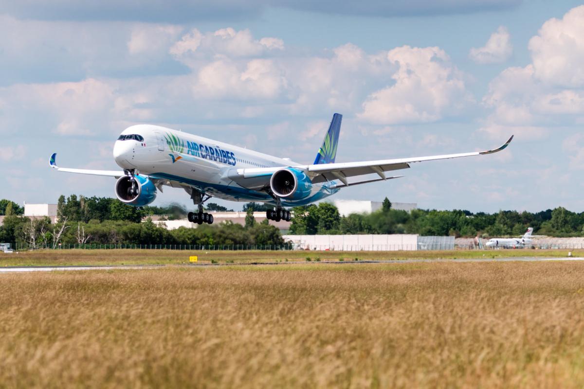Air Caraïbes a reçu aujourd'hui son deuxième Airbus A350-1000