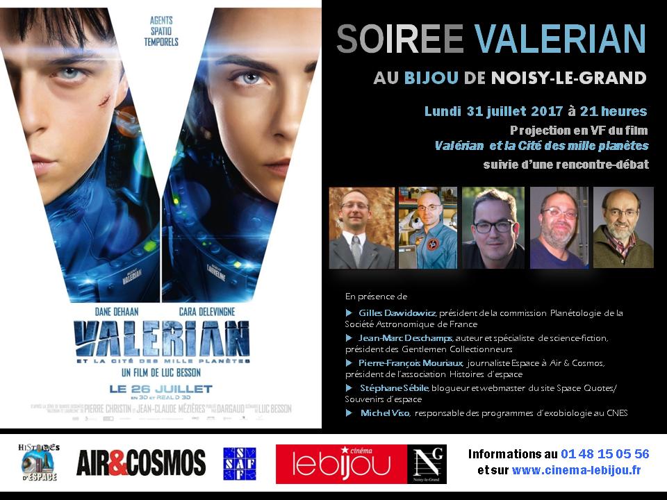 Ciné-débat autour de Valérian le 31 juillet à Noisy-le-Grand