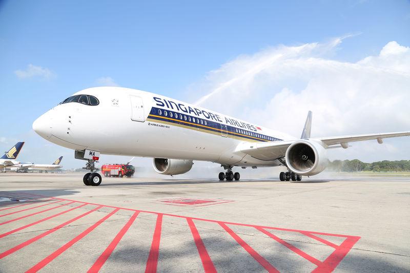 Singapore Airlines met l'Airbus A350-900 sur San Francisco