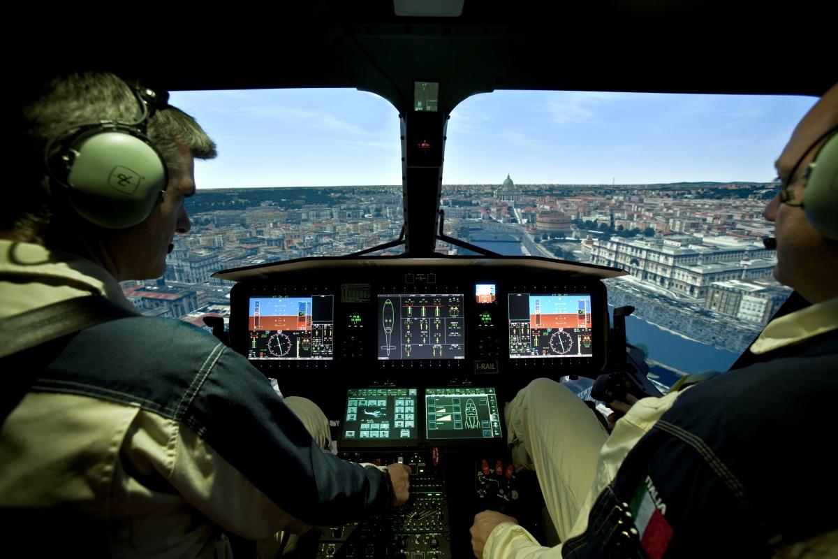 Dubai Airshow 2019 : simulateur pour Leonardo AW 169 à Abou Dhabi