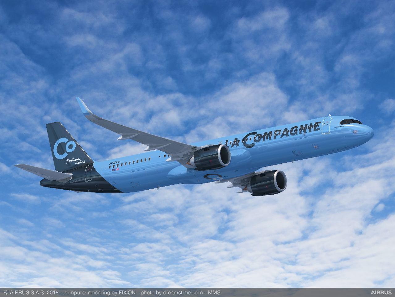 L'Airbus A321neo de La Compagnie entrera en service en juin