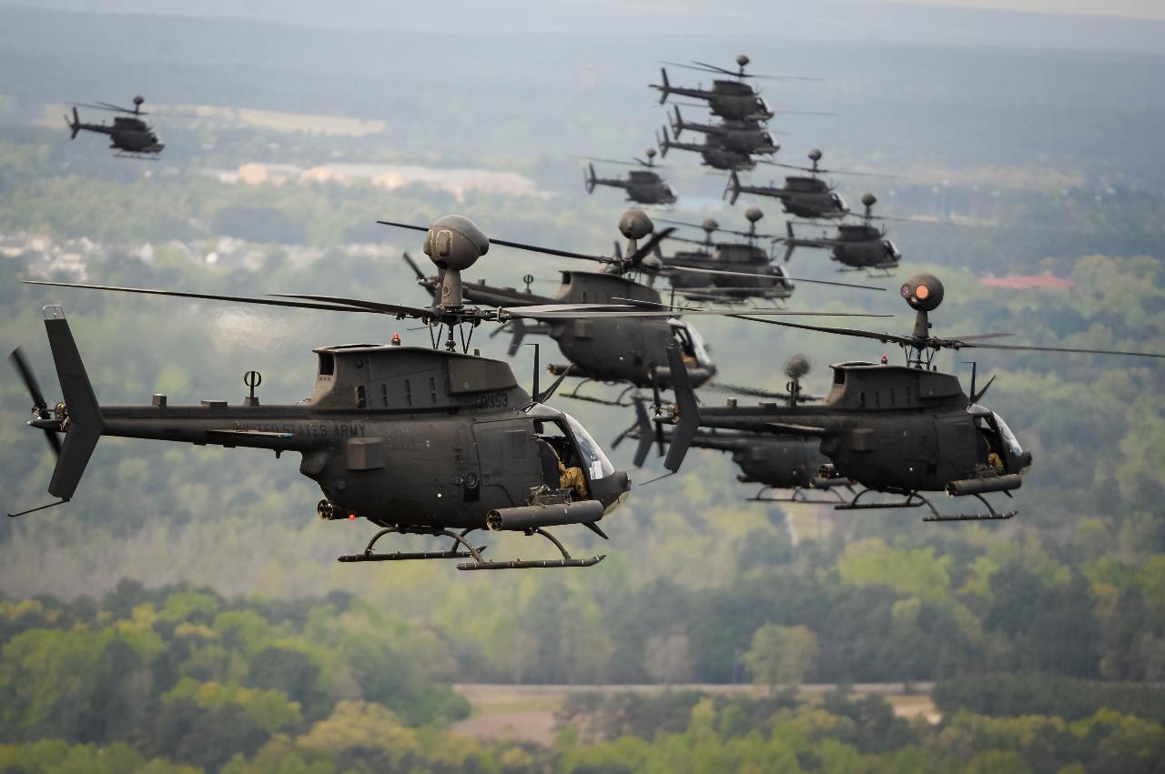 Tunis reçoit ses premiers OH-58D Kiowa
