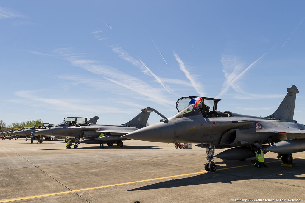 Arrivée des Rafale pour l'exercice Atlantic Trident