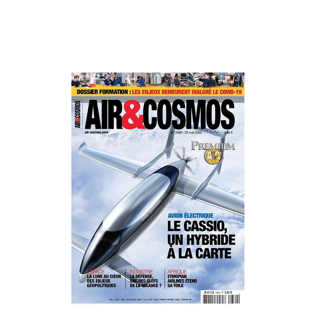 Emploi et formation dans la production, l'avion Cassio de VoltAéro, le satellitier, cette semaine dans Air et Cosmos