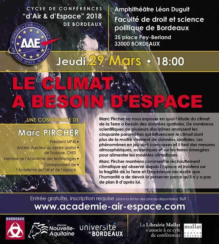 """"""" Le climat a besoin d'espace """" à Bordeaux le 29 mars"""