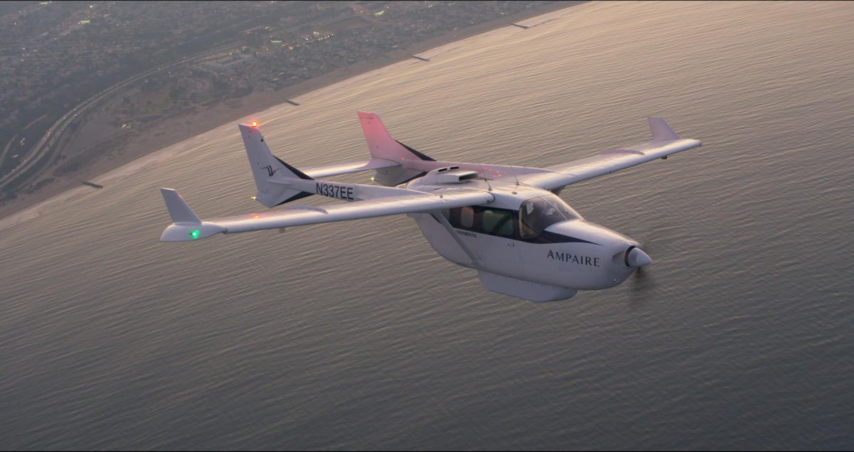 Ampaire revendique le plus long vol en propulsion électrique