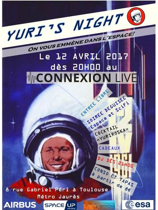 Yuri's Night à Toulouse le 12 avril