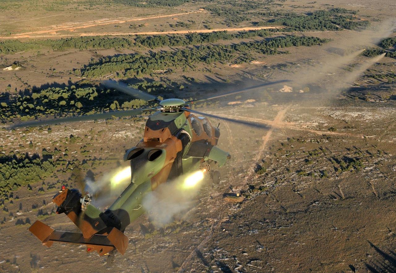 Commande de roquettes guidées pour le Tigre