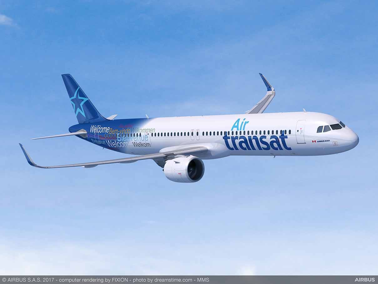 Air Transat fera du transatlantique en Airbus A321neo LR