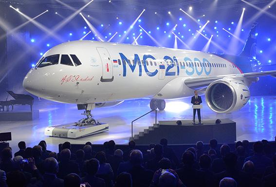 L'avion russe MC-21 se dévoile face aux Airbus A320 et Boeing 737