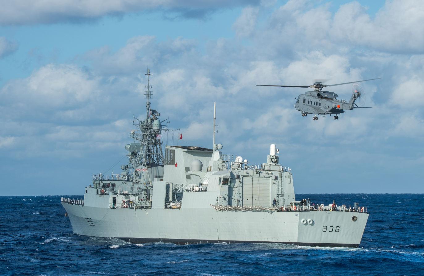 Le Canada teste les capacités ASM du CH-148 Cyclone