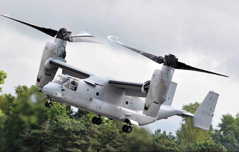 Les V-22 Osprey consignés au sol