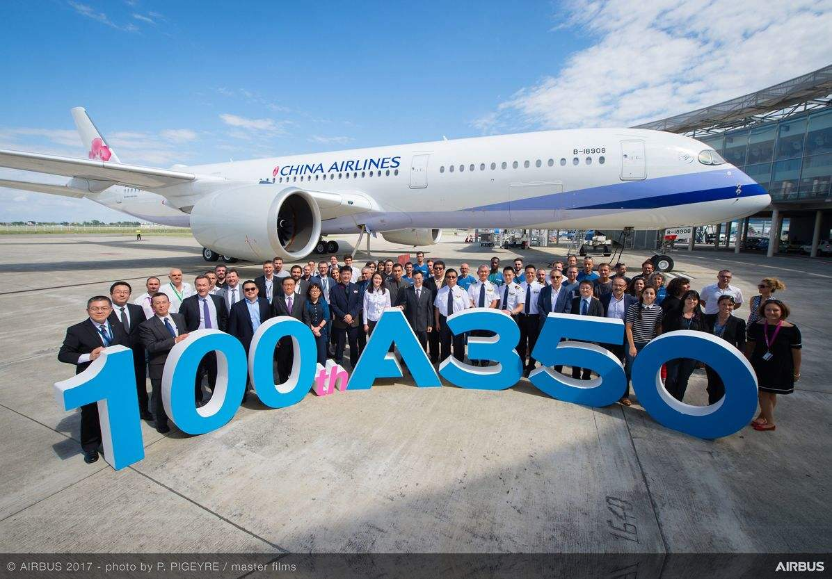 Airbus delivers 100th A350 XWB