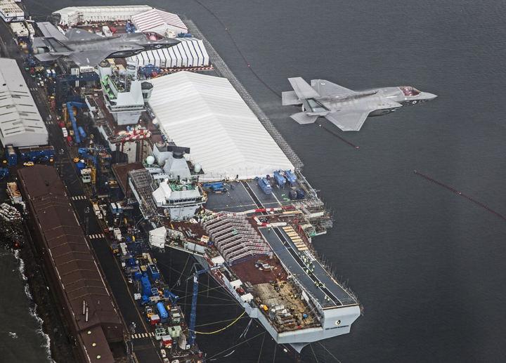 Les F-35 américains décolleront du porte-aéronefs britannique