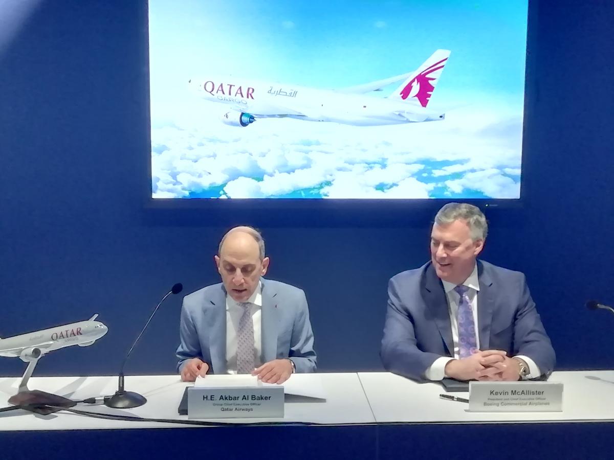 Bourget 2019: Qatar Airways s'engage sur 5 B777F