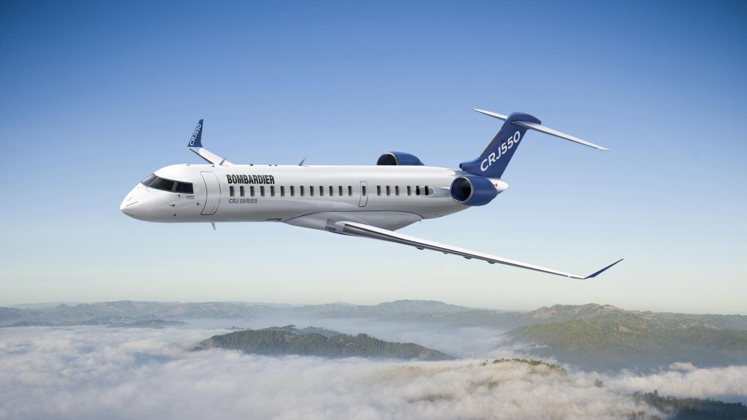 Bombardier lance le CRJ550, un biréacteur régional de 50 places