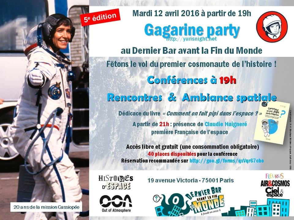 Gagarine party - 5e édition à Paris - au Dernier Bar avant la Fin du Monde