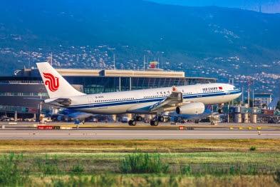 Air China se pose à Nice