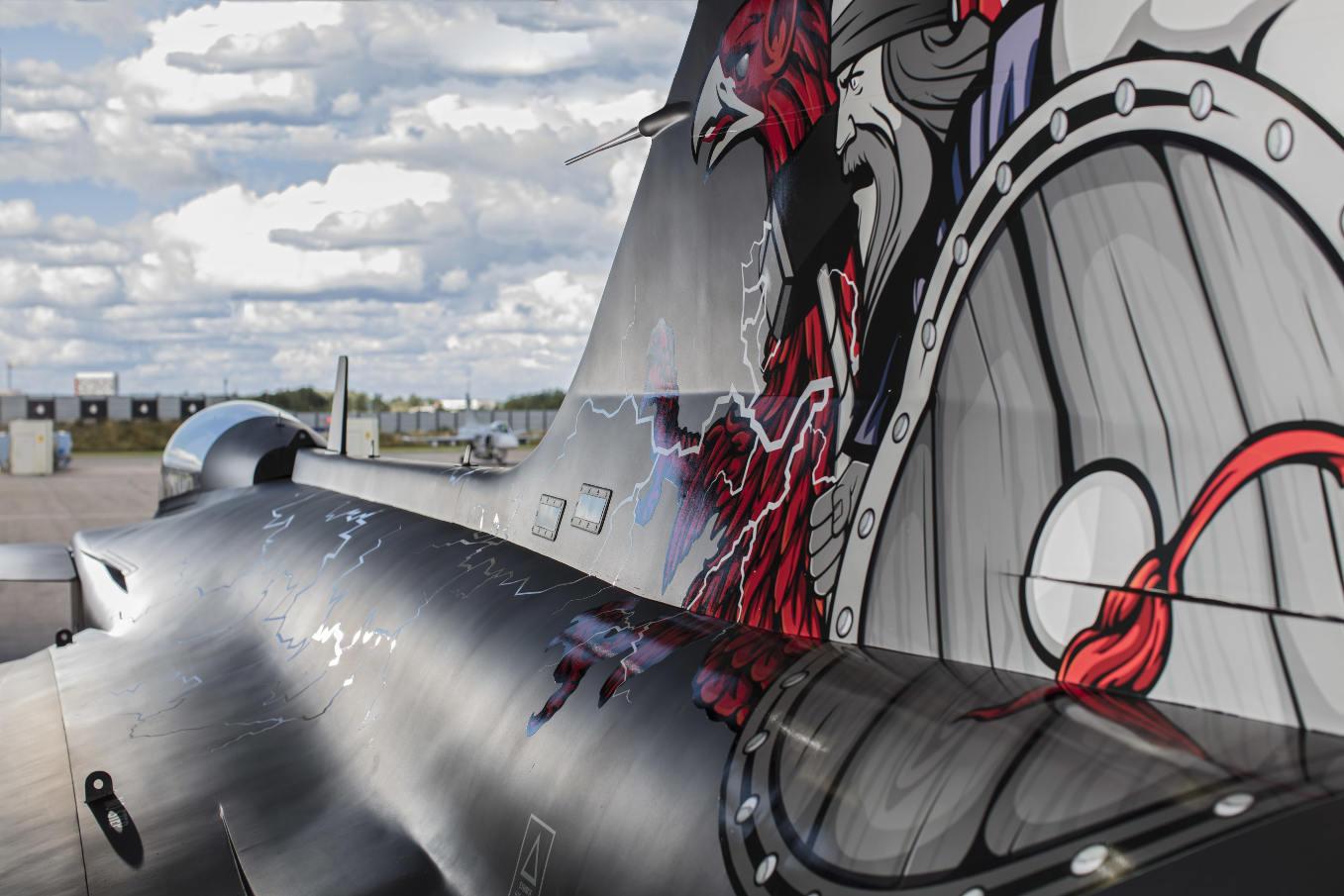 Saab présente le Gripen Agressor